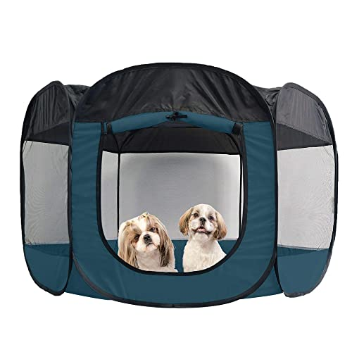 Buy Furhaven Pet Playpen Indoor Outdoor Mesh Open Air Playpen And Exercise Pen Tent House Playground For Dogs And Cats Sailor Blue Extra Large Online In Greece B01is5tkxg