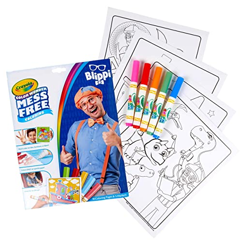 Buy Crayola Color Wonder Blippi, Mess Free Coloring Pages & Markers, Gift  For Kids, Age 3, 4, 5, 6 Online In Greece. B08LP1M9N7