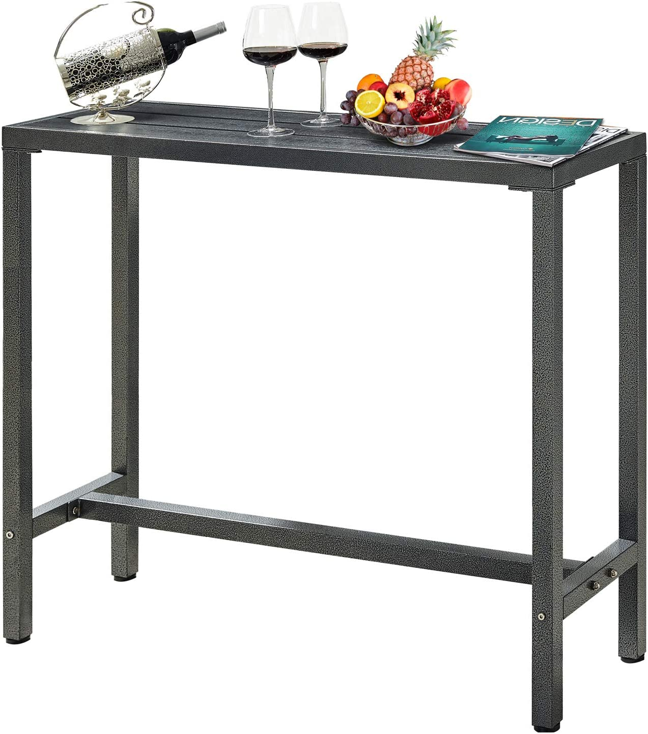 Pub Height Dining Table Bistro Patio, Outdoor Bar Top Dining Table